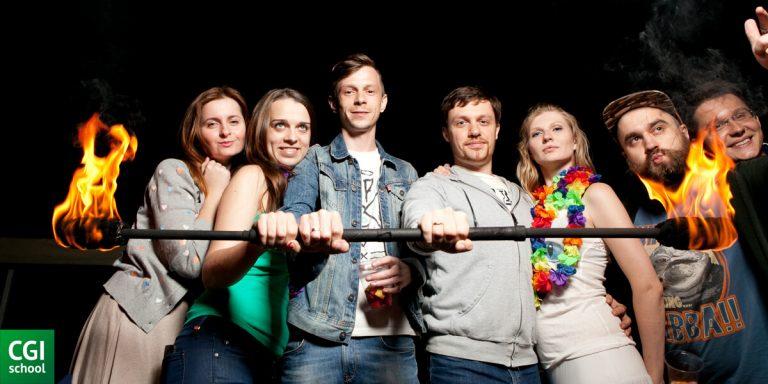 Участники CGI School summer party 2015