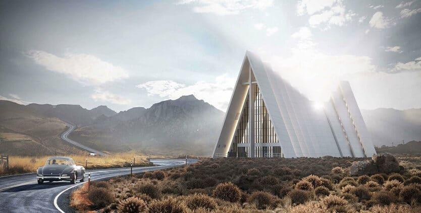 3D рендер церкви