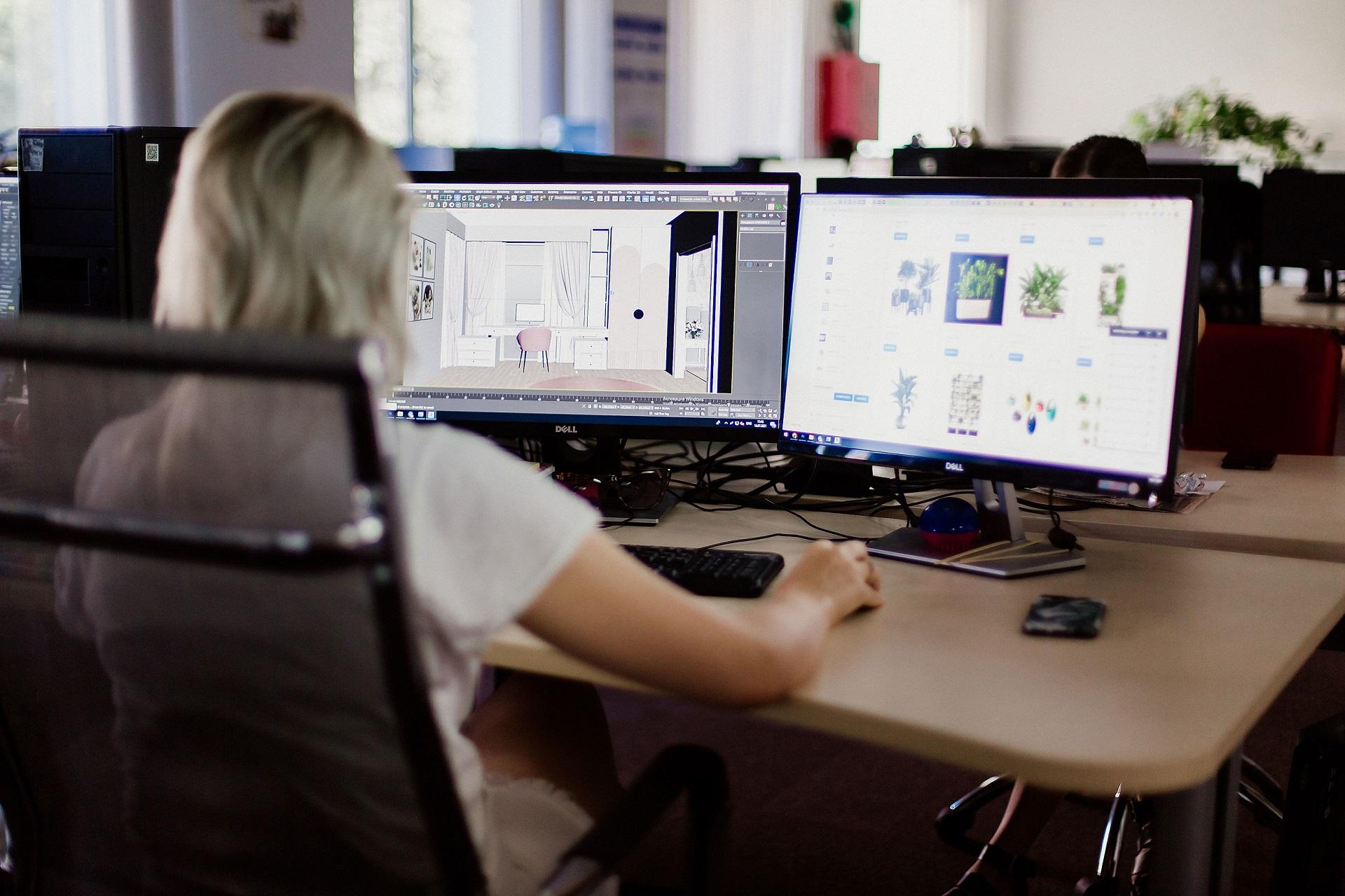 3D визуализатор интерьера за работой