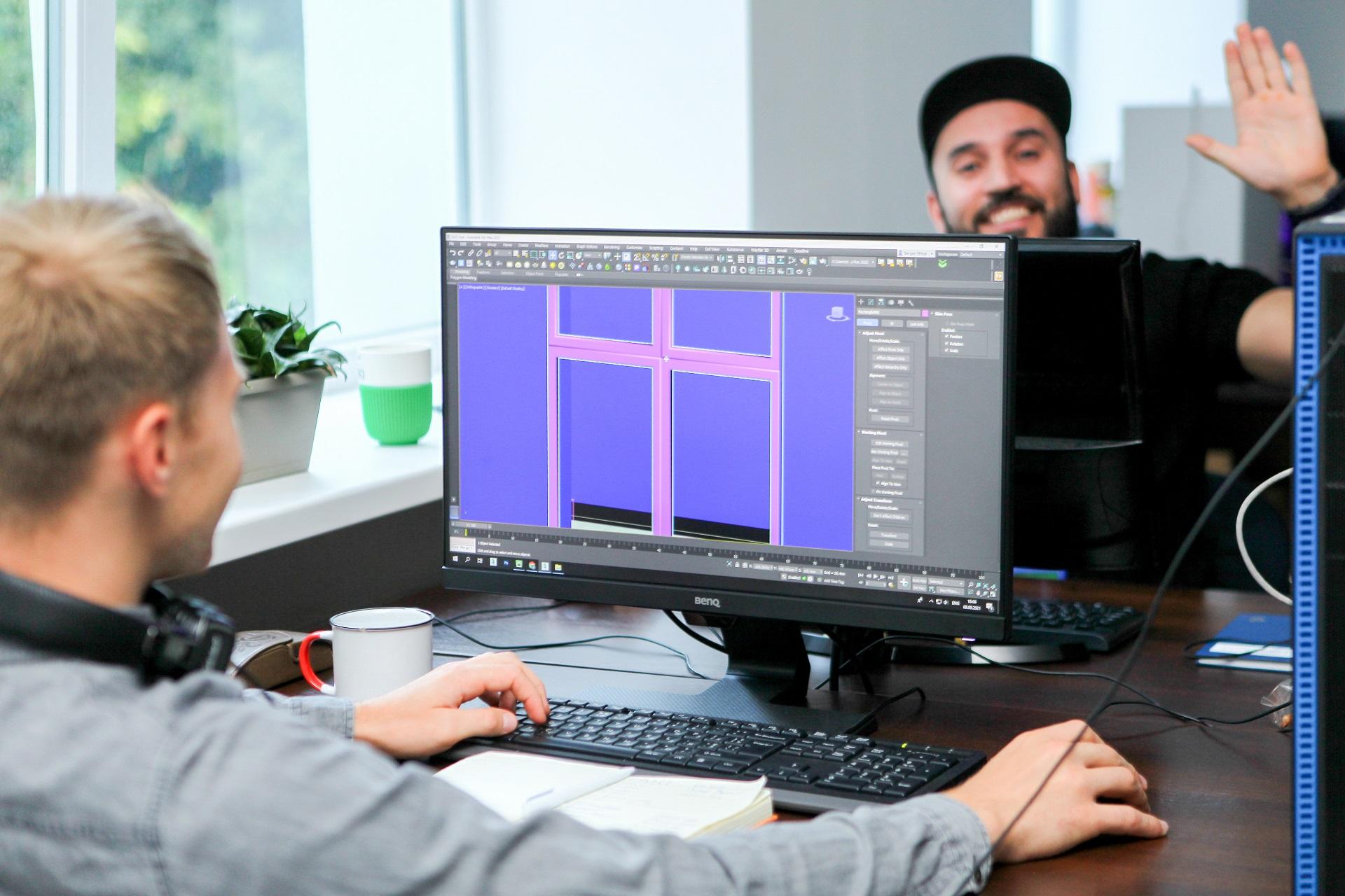 Общение 3D визуализаторов на работе