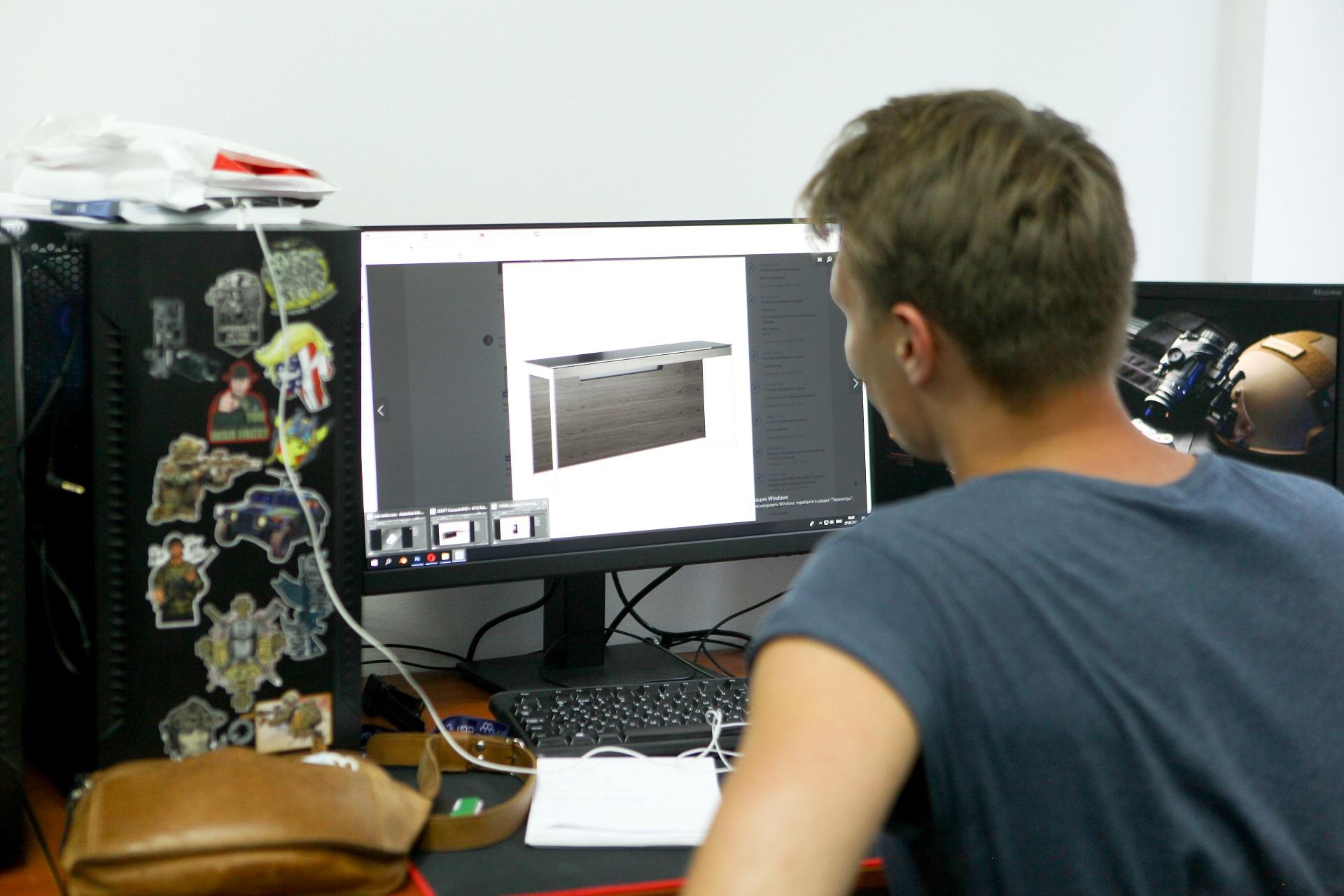 3D визуализатор в процессе работы