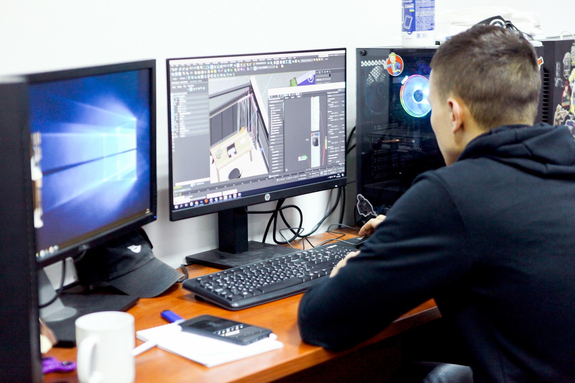3D визуализатор работает над проектом