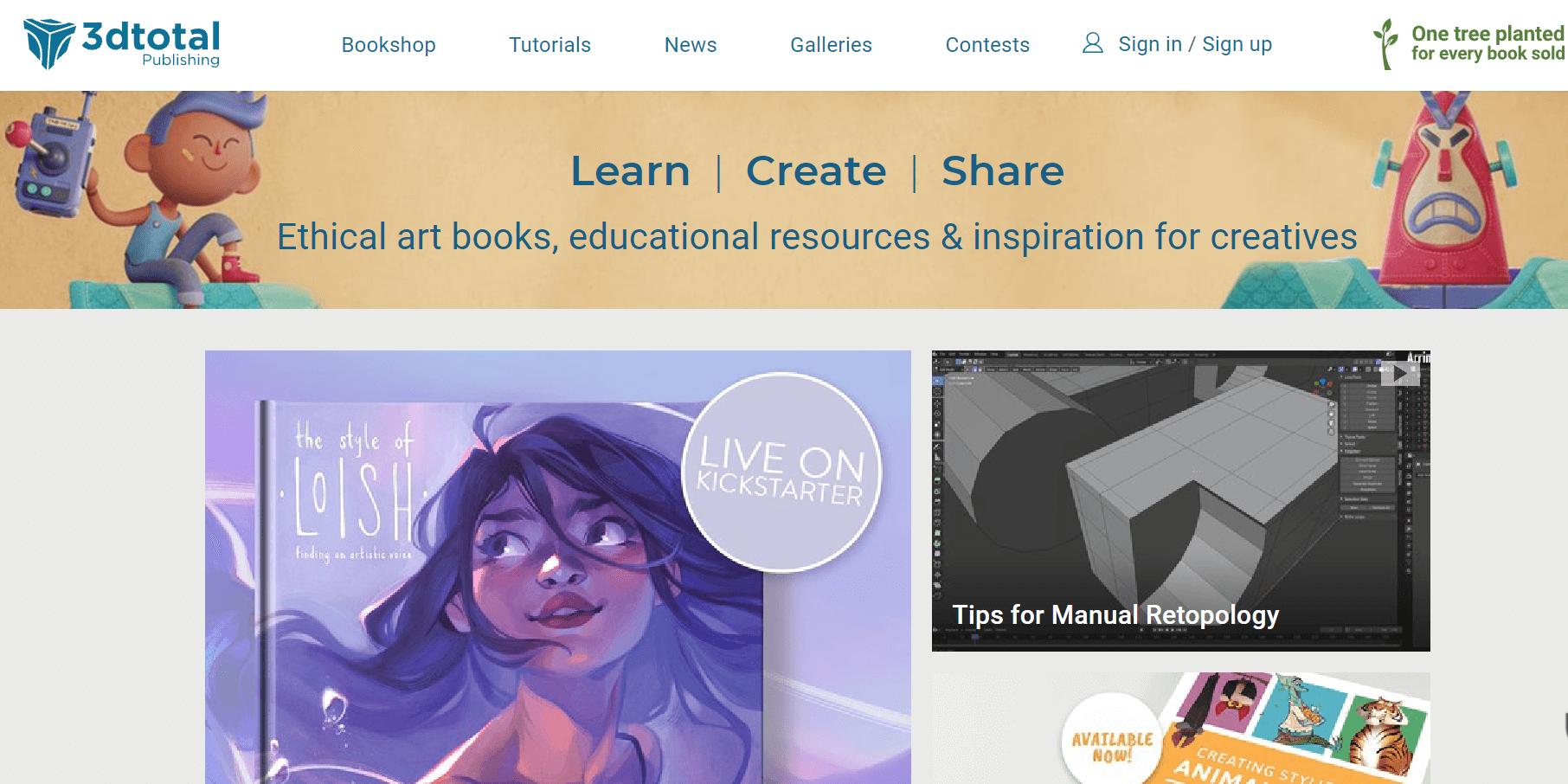 Сайт об обучении 3D графике