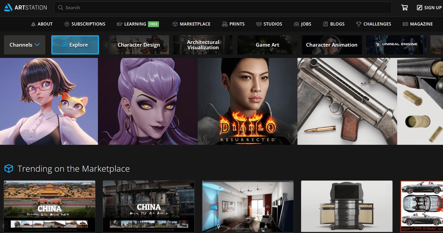 Известный сайт о цифровом 3D арте