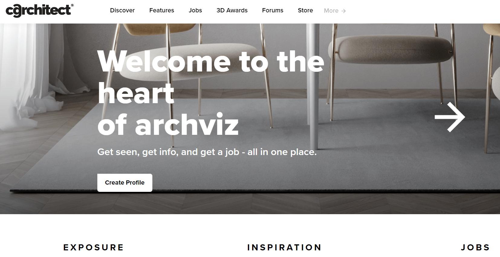 Сайт з архітектурної 3D візуалізації