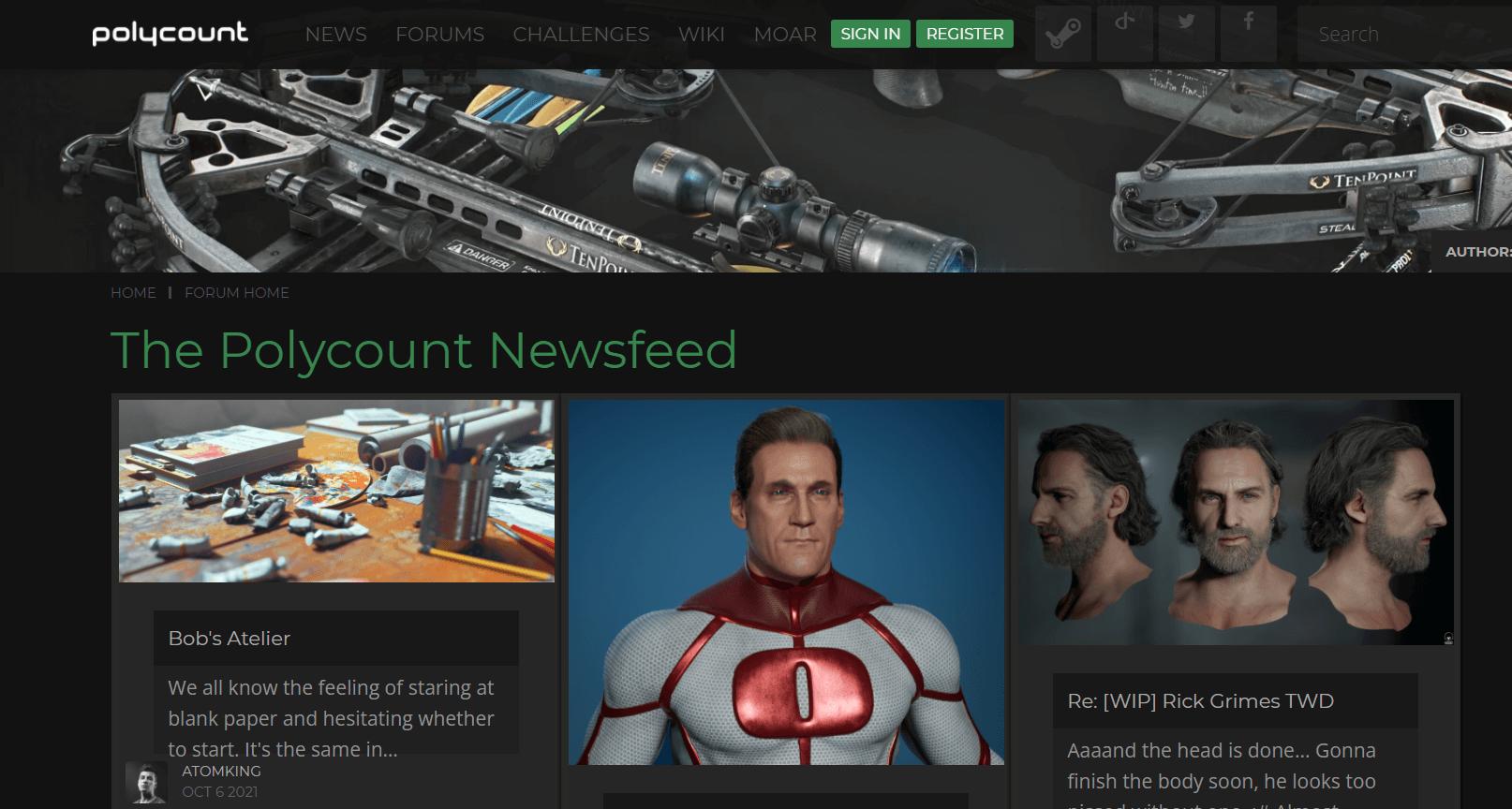 Сайт з матеріалами на тему 3D графіки