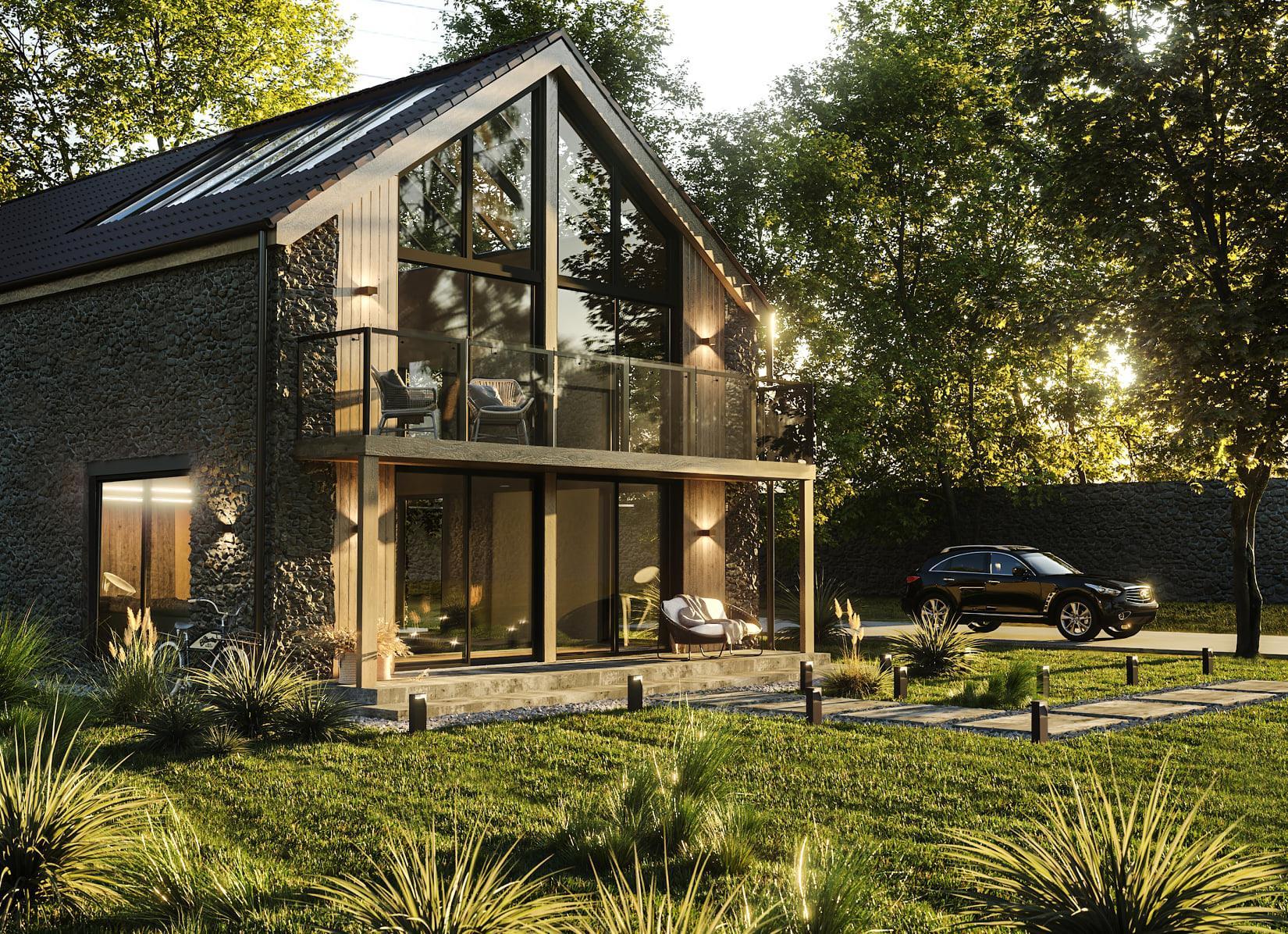 3D визуализация современного дома